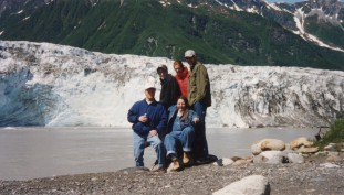 Coworkers and me at Child's Glacier