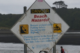 Only accessible at low tide!